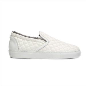 Officine Creative White Quilted Sneakers